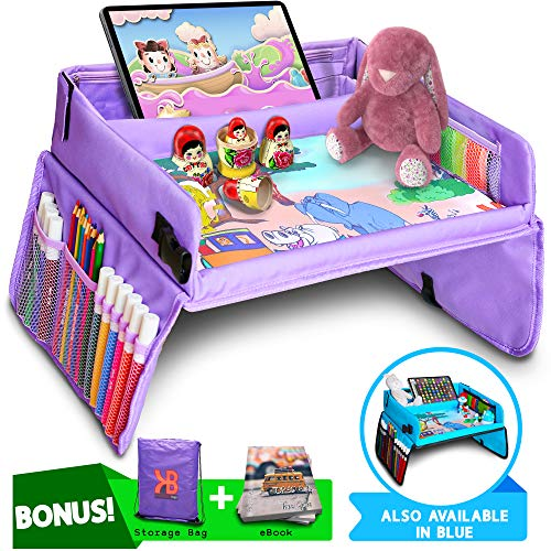 Kids Travel Tray, Car Seat Tray for Toddler + Free Bag & E-Book - Keeps Children Entertained