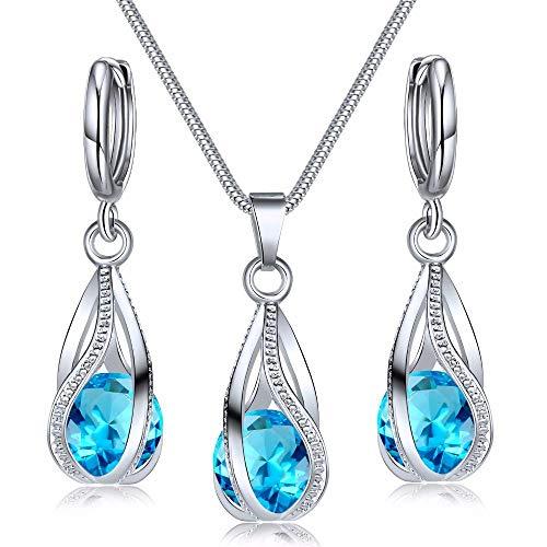 Nuevo estilo de explosión de joyería pendientes de cristal de circón de moda colgante conjunto de dos piezas de joyería