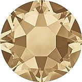 Swarovski 100 Stück Elements 2078 XIRIUS Rose, Hotfix, Crystal Golden Shadow, SS16 (Ø ca. 4 mm), Strasssteine zum Aufbügeln