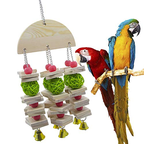 WFWUK AgapornisJuguetes Loros Juguetes para PajarosJuguetes para Agapornis para Jaula Juguetes para Periquitos Aves Juguetes Juguetes De Aves Cockatiel Juguetes Loro Juguetes Loro Perchas