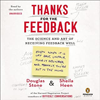 Thanks for the Feedback audiobook cover art