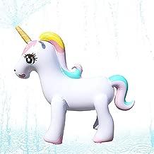 HANMUN Unicorn Sprinkler for Kids Sprinkler 2019 Unicorn Blow up Sprinkler Toddler Water Spray Floats …