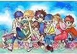 Rompecabezas de diversión familiar Exquisita creatividad animado de dibujos animados japonesa Digimon Rompecabezas, regalo de cumpleaños creativo, en caja de madera Rompecabezas juego de los juguetes