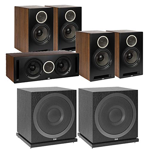 Sale!! ELAC Debut Reference DB62 5.2 Channel Bookshelf Surround Sound Home Theater System with Subwo...
