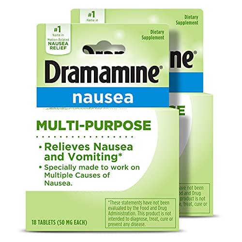 Dramamine-N Multi-Purpose Formula Nausea Relief | 18 Count | 2 Pack