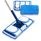Set of 2 Microfiber Mop Pads - Reusable Mop Pads Washable Reusable Floor Cleaning Pads - Durable Microfiber Pad - Microfiber Cloth for Mop - Mop Replacement Heads - Flat Mop Pads - Dry Mop Refills
