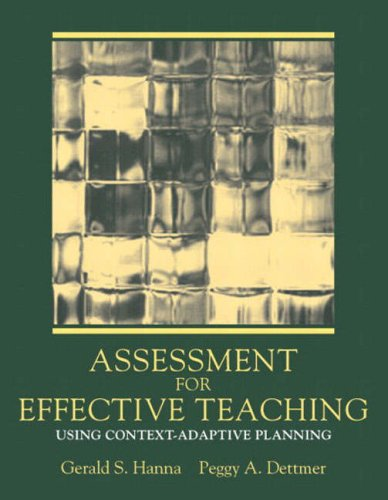 Assessment for Effective Teaching: Using Context-Adaptive Planning