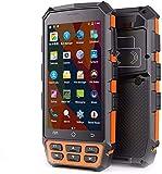 Escáner PDA, Terminal móvil de mano resistente con el lector de códigos de barras de Honeywell 2D, Android 7.0, Cámara, Wireless 4G Wifi GPS BT NFC para entrega Inventario Envío Almacén al por menor ,