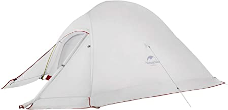 Naturehike Cloud-Up 2 and 3 Person Lightweight Backpacking Tent with Footprint with Snowskirt - 4 Season Free Standing Tent Ultraligh Waterproof Backpack Camping Tent