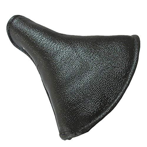 Abaodam Cojín de asiento de cuero vintage con muelles retro para asiento de equitación duradero para triciclo vintage (negro)