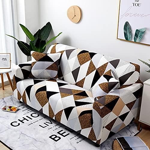 WXQY Funda de sofá elástica con Estampado de patrón geométrico para Sala de Estar, Funda de sofá Modular en Forma de L Funda de sofá A1 2 plazas