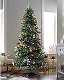 JLKDF Árbol de Navidad Decorado emergente preiluminado con 100 Luces LED Blancas cálidas Multicolor 6 pies/1,8 m-Oro/Plata
