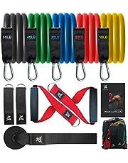 Bob and Brad Resistance Bandenset, set weerstandsbanden, expander tubes, rubberen banden voor binnen en buiten, fitness, kracht, slank, yoga, thuis-fitnessapparaten