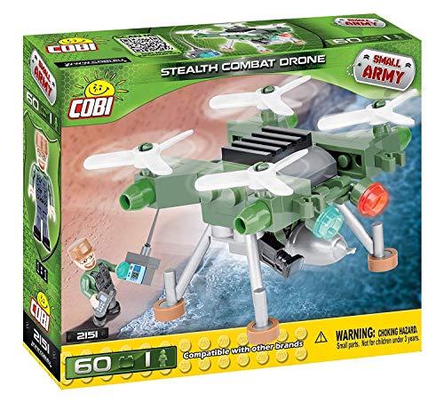 COBI- Small Army-Stealth Combat Drone (60 Pcs) Juguete, Multicolor (2151)