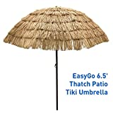 STRONG AND DURABLE - 6.5' diameter canopy. Heavy duty steel poles and ribs with wood grain finish poles and wood color plastic parts ECO-FRIENDLY canopy material will not fade in color. Vented canopy for better air release to avoid cover inversion. E...