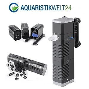 AquaOne-Chj-502-Aquarium-Innenfilter-Regelbar-Bis-150-Liter-Aquarien-Nano-Cube-Eckfilter-Pumpe-Filter-Schwammfilter-Wasserfilter-Leise