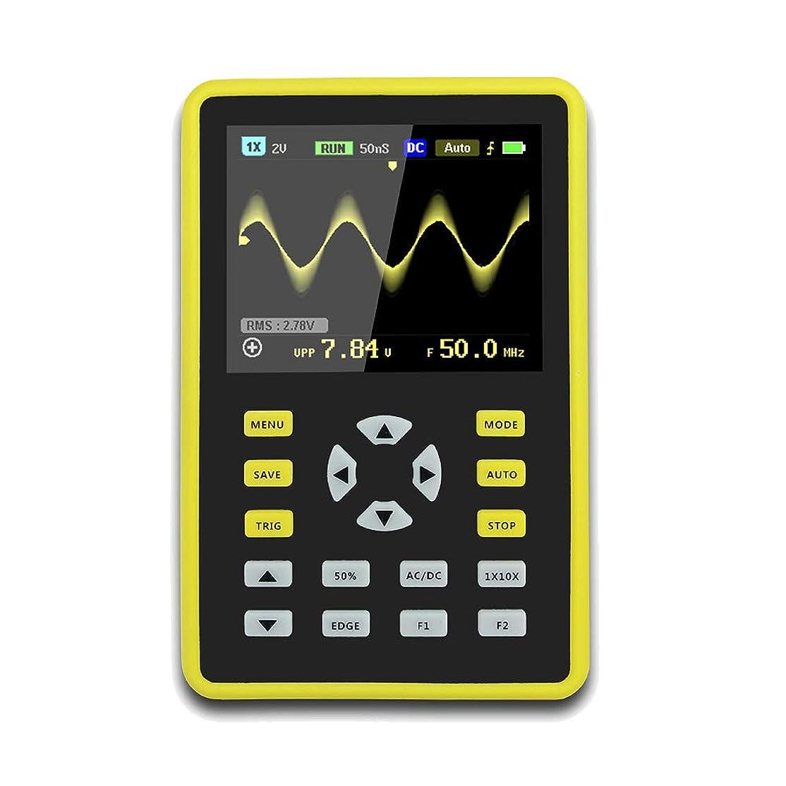 相互接続香ばしいインフラProfeel 手持ち型デジタル小型オシロスコープ2.4インチ500 MS/s IPS LCD表示スクリーンの携帯用