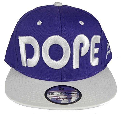 """Neuf Unisexe Casquette de baseball avec """"Dope"""" Big Logo à l'avant Hip Hop Casquette Chapeau - Multicolore - Taille unique"""