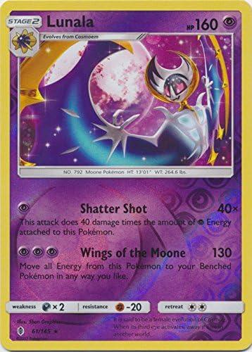 Lunala 61 145 Rare Reverse Holo Sun Moon Guardians Rising product image
