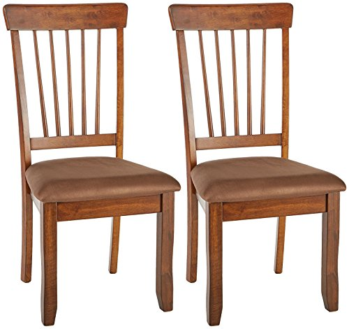 Signature Design by Ashley - Berringer Dining Side Chair - Spindle Back - Set of 2 - Hickory Stain Finish