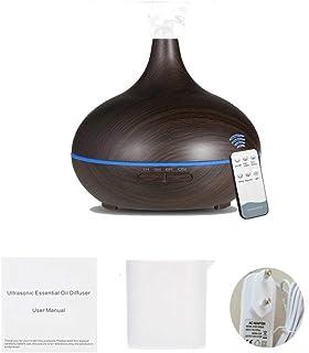 HETUI 550 ML télécommande Aroma Air humidificateur diffuseur d'huile Essentielle brumisateur (Brun foncé)