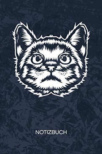 NOTIZBUCH: A5 Kariert - 120 Seiten KARO - Geschenkidee für Herrchen Heft Katzen Notizheft - Katzenmotiv Notizblock Katzenbaby Motiv - Katzenliebhaber Geschenk Maine Coon