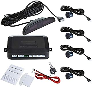 Car LED Parking Reverse Backup Radar System with Backlight Display 4 Sensors,K369
