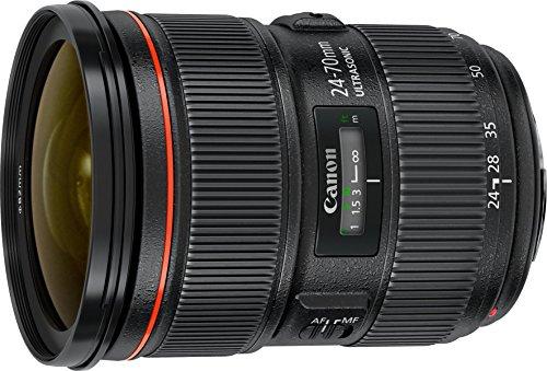 Canon EF 24-70mm f/2.8L II USM - Objetivo para Canon (Distancia Focal 24-70mm, Apertura f/2.8-22, Zoom óptico 3X,diámetro: 82mm) Negro
