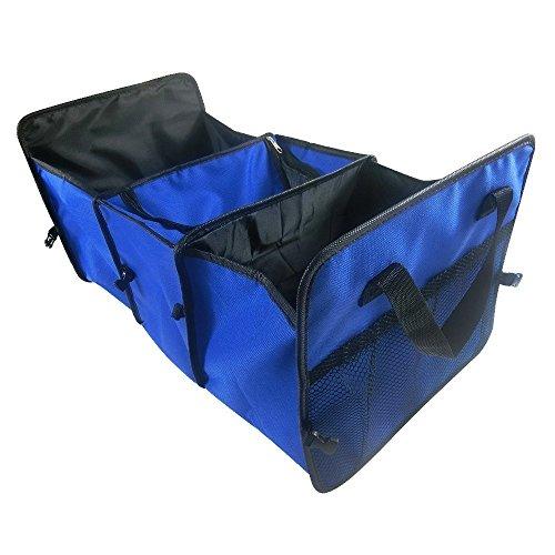 CAMTOA 3-in-1 Auto Organizer/ Trunk Organizer / Tronco Bagagli Box- Tessuto di Oxford, Pieghevole per Auto, SUV, Familiari, Van e Truck - Per Cargo, Viaggio, Strumenti,Campeggio o Cibo e Bevande