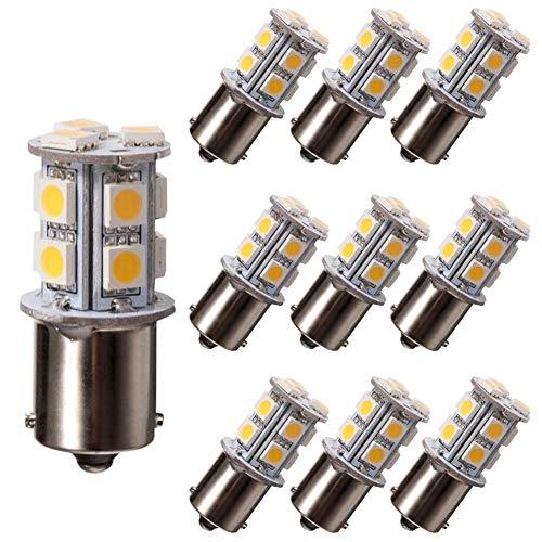 GRV 10X Ba15s 1156 1141 Ampoule LED Haute Puissance 13-5050SMD Blanc Chaud DC12V