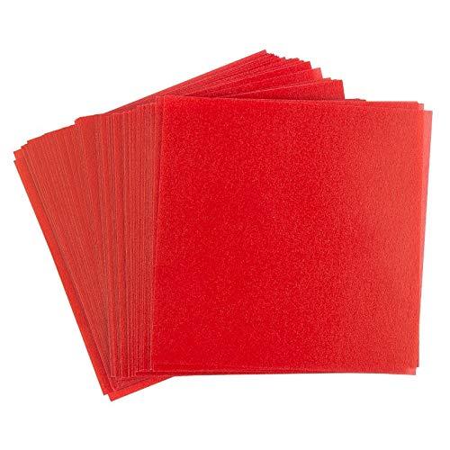 Ideen mit Herz Transparentpapier | 100 Blatt | quadratisch | Premium-Qualität | 110 g/qm | ideales Faltpapier zum Sterne basteln | transparentes Bastelpapier (rot, 20 x 20 cm)