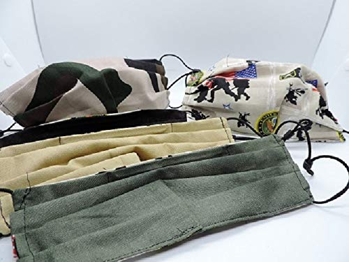 FACE MASK - US ARMY Seattle Mall Long Beach Mall REVERSIBLE HANDMADE IN USA 2 LAYER THE