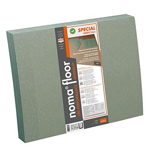 Base suelo parquet/laminado NMC SPECIAL GREEN 15 und 790x590X5mm Fibra madera Suelo Madera 7 m2