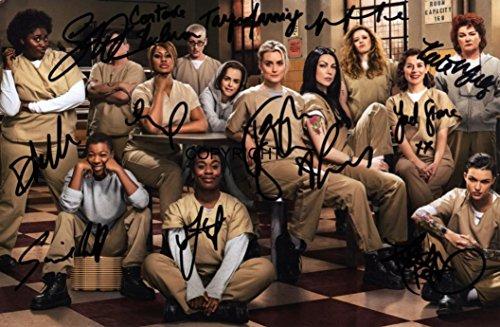 Limited Edition Orange ist das neue Schwarz Cast Signiert Foto Autogramm signiertsigniertes
