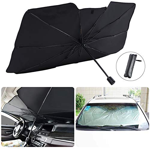 Car Front Windshield Sunshade, Front Sun Shade UV Protector for Car...