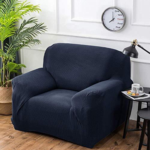 Fundas de sofá Suaves y Gruesas de Alta Elasticidad, Funda Lavable elástica Universal, Funda de sofá de poliéster Spandex de Ajuste fácil, Azul Oscuro, 3 plazas