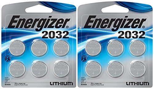 Energizer 2032BP-4 3 Volt Lithium Coin Battery - Retail Packaging (Pack of 12)