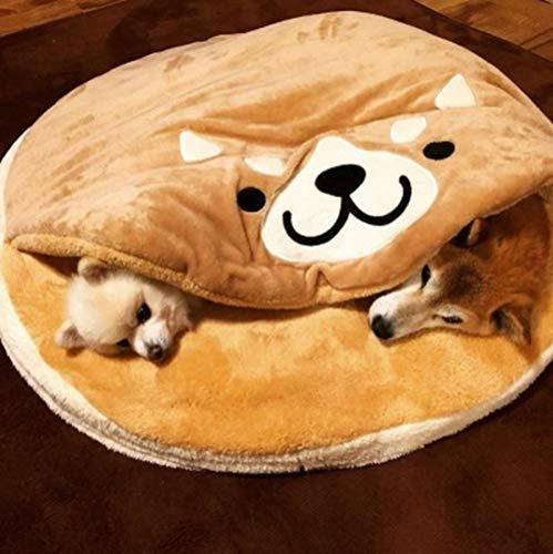 Gong Burning Shiba Inu Haustier Nest Pad Cartoon Kurzer Plüsch Runde Katzen- und Hundematte Hundebetten Große Hundebetten Hundedecke