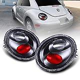 AmeriLite Taillights Black for Volkswagen Beetle - Passenger and Driver Side