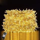 Luci Natale Esterno, GlobaLink Catena Luminosa 25M 1000 LEDs Stringa Luci Led Impermeabili, 8 Modalità...