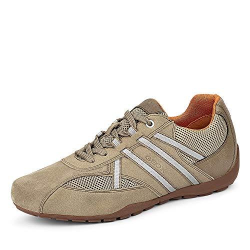 Geox Herren Sneaker Low U Ravex C, Beige , 44 EU