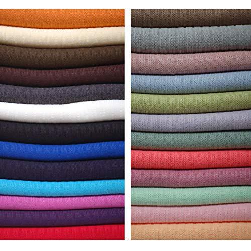 Neotrims Knit Rib Fabric & Cuffs Pièces de tricot côtelé 24 couleurs au mètre