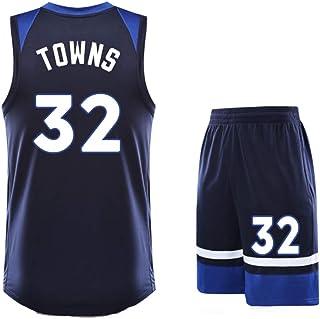 Karl-Anthony Towns 32 Timberwolves - Camiseta de Baloncesto para Hombre de Manga Corta