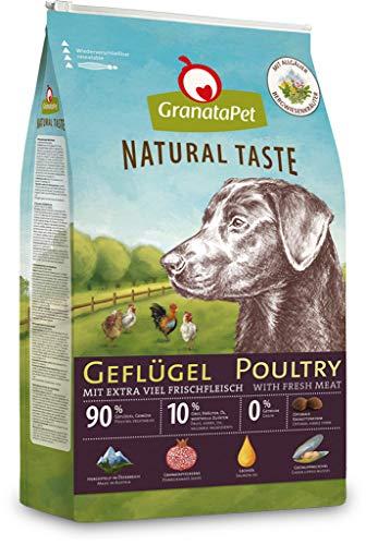 GranataPet Natural Taste Geflügel, Trockenfutter für Hunde, Hundefutter ohne Getreide & ohne Zuckerzusätze, Alleinfuttermittel für ausgewachsene Hunde, 12 kg