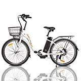 ECOTRIC Powerful Electric Bike 26' City EBike 350W Motor 36V/10AH Moped Pedal Assist Bicycle - 90%...