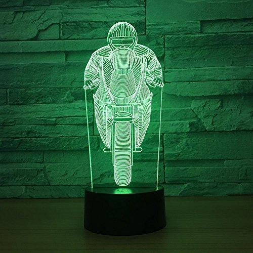 3D illusie lamp motorfiets LED nachtlampje 7 kleuren knipperlicht touch schakelaar stroomvoorziening USB decoratie huis licht cadeau verjaardag
