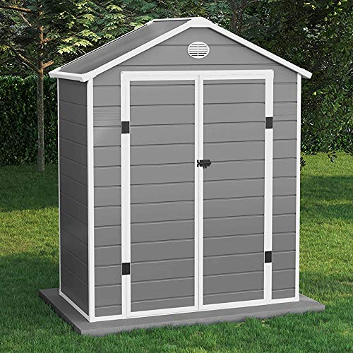 Plastic Garden shed | Plastic Garden Storage Room with Foundation kit | Outdoor Storage | 8 x 12 Yingchi Yingchi,6 * 3