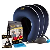 Dr Fix Cervical Neck Traction Device for Instant Neck Pain Relief at Home   Elastic Band (Dark Blue, 12-17)