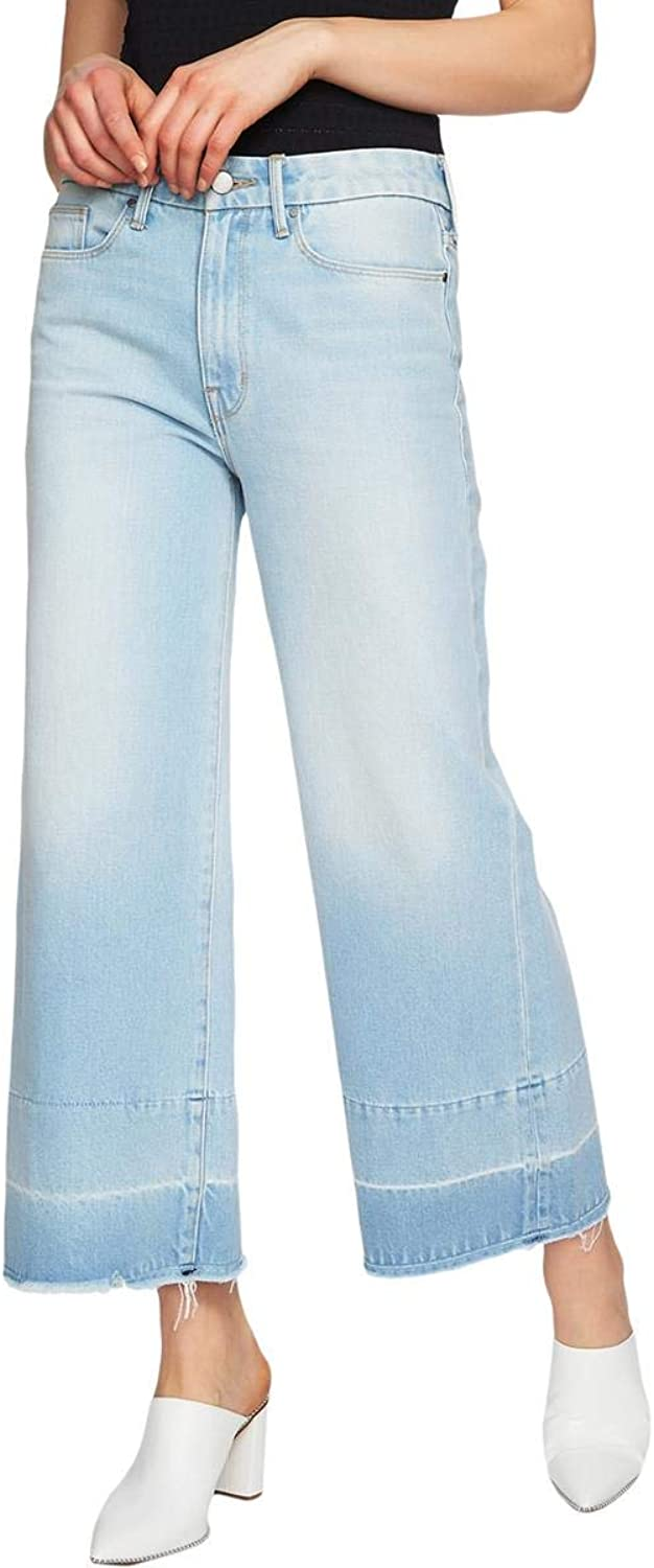 1.State Womens Denim Light Wash Wide Leg Jeans bluee 32
