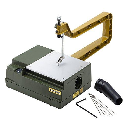 プロクソン(PROXXON) コッピングソウテーブル ローエンドモデル 手軽に電動糸鋸盤を使い方にお勧め 糸鋸刃3種各2本付 No.27081